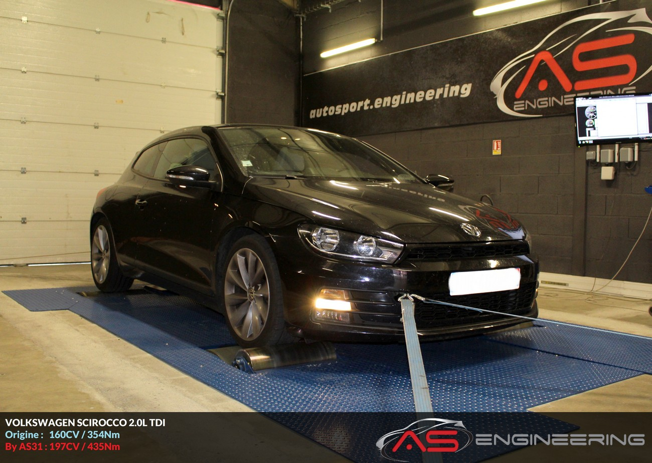 volkswagen scirocco 2 0l tdi as31 reprog moteur proche toulouse. Black Bedroom Furniture Sets. Home Design Ideas