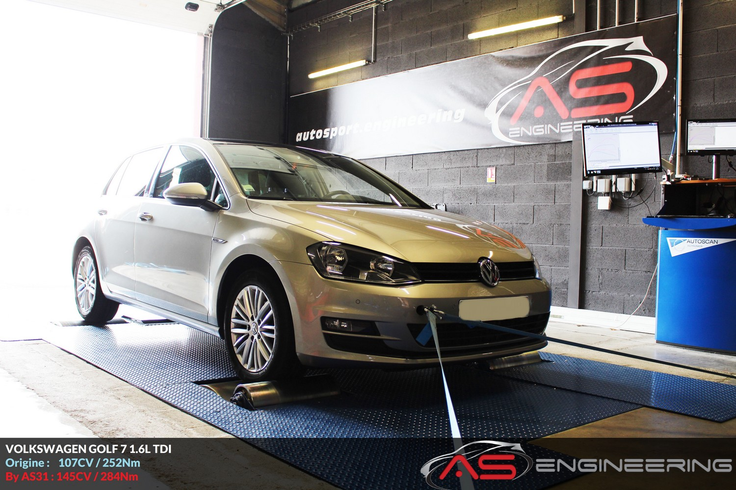 volkswagen golf vii 1 6l tdi as31 reprog moteur proche toulouse. Black Bedroom Furniture Sets. Home Design Ideas