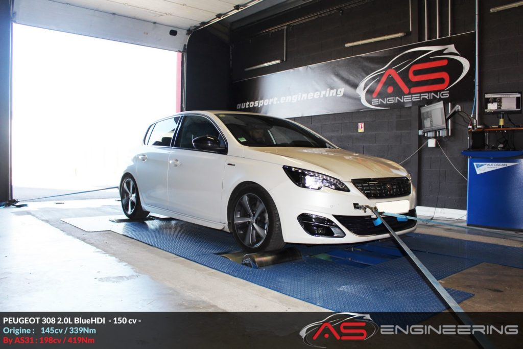 Reprogrammation Moteur Peugeot 308 20l Bluehdi 150cv As31 Reprog