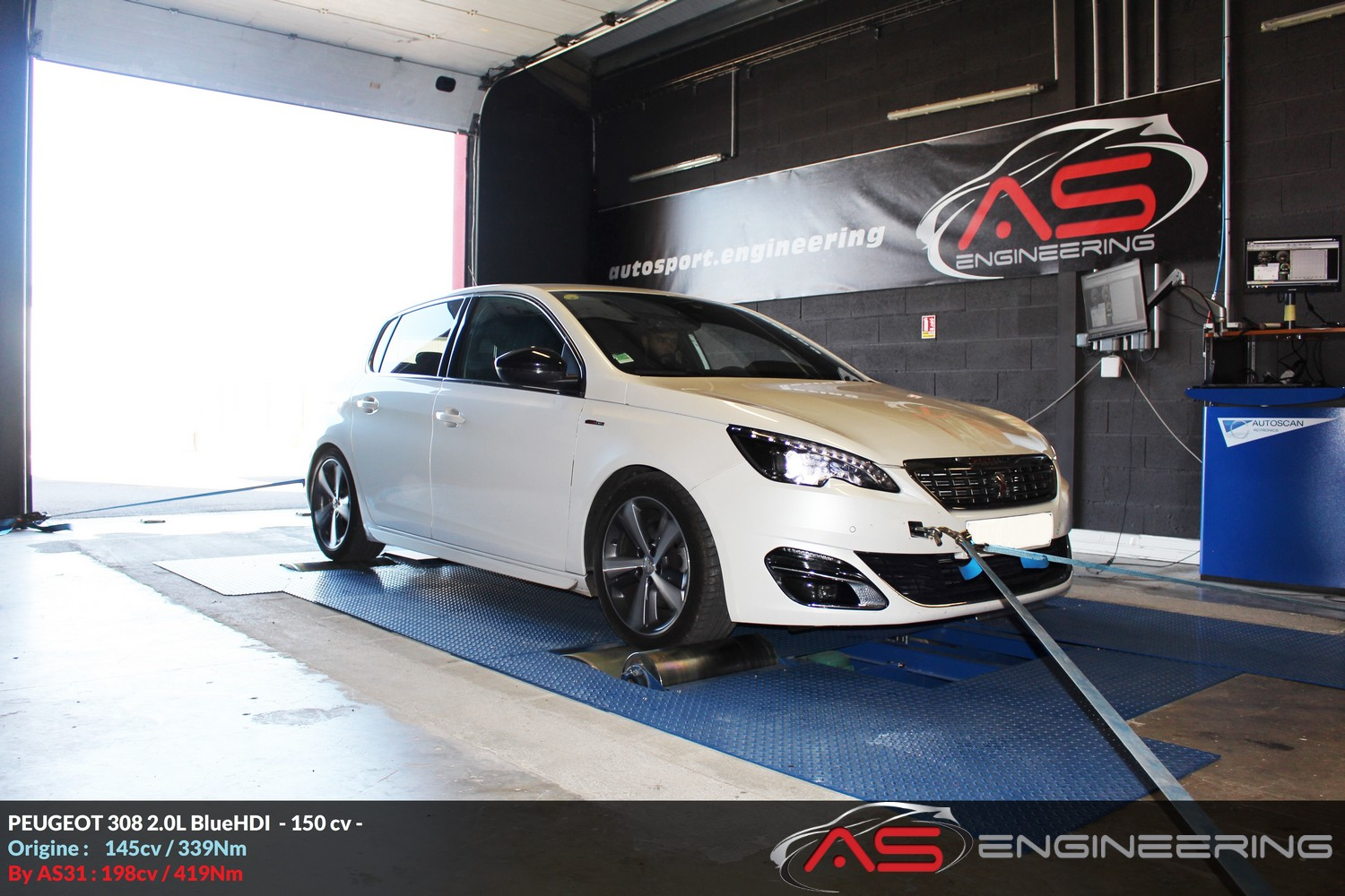 reprogrammation moteur peugeot 308 2 0l bluehdi 150cv as31 reprog moteur proche toulouse. Black Bedroom Furniture Sets. Home Design Ideas