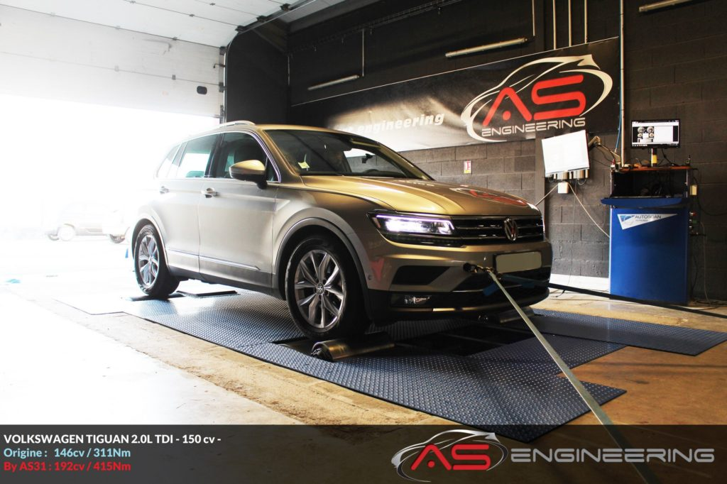 Reprogrammation Moteur Volkswagen Tiguan 20l Tdi 150cv As31